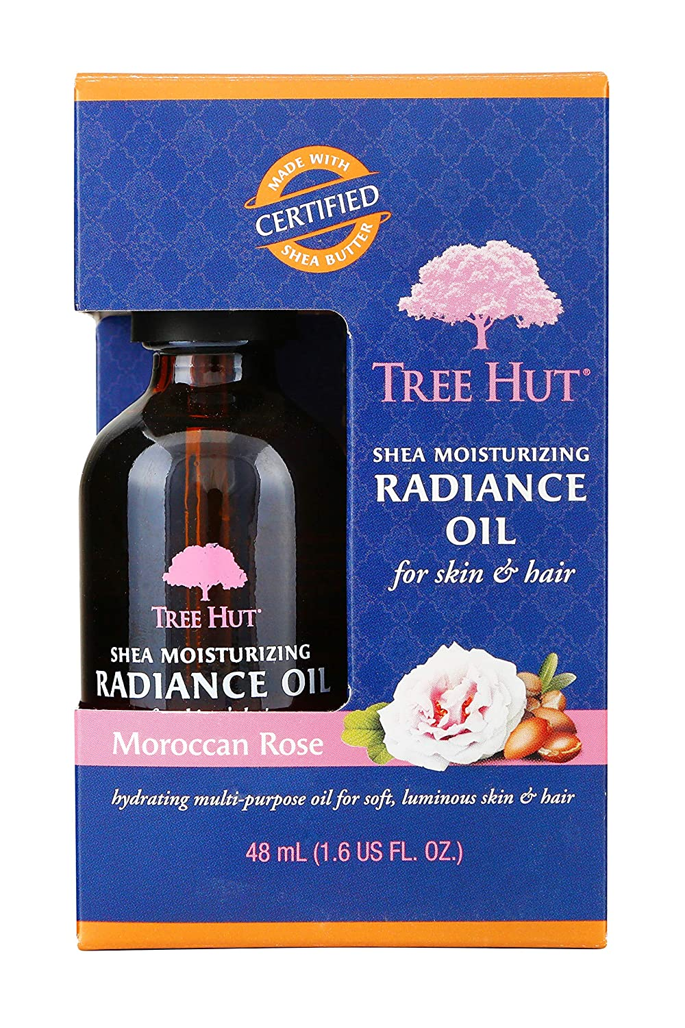 Tree Hut Shea Moisturizing Radiance Oil Moroccan Rose, 1.6oz, Ultra Hydrating Oil for Nourishing Essential Body Care