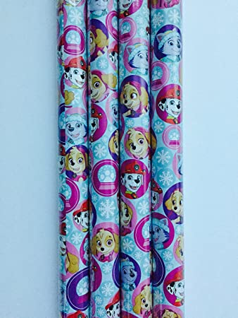 Gift Wrap - Paw Patrol Holiday Themed - Wrapping Paper - 1 Roll - 20 sq
