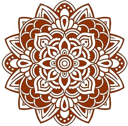 Omega Namaste Yoga Mandala 3 Vinyl Decal Sticker Quote - Large - Metallic Copper