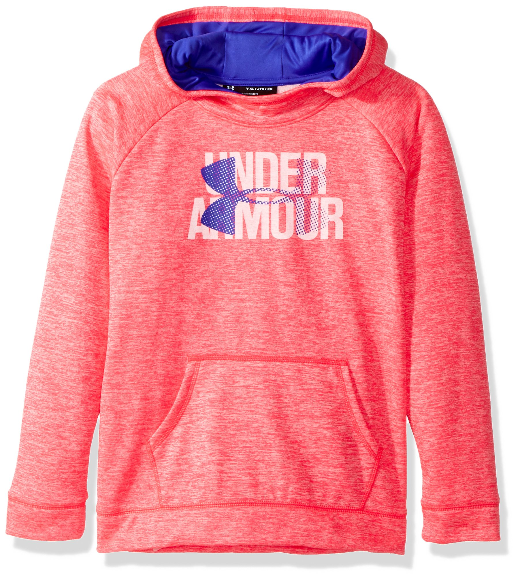 Under Armour Girls' Armour Fleece Big Logo Printed Hoodie, Penta Pink (975), Youth X-Large by Under Armour