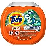 Tide PODS Plus Febreze Odor Defense 4 in 1 HE Turbo Laundry Detergent Pacs, Botanical Rain Scent, 54 Count Tub