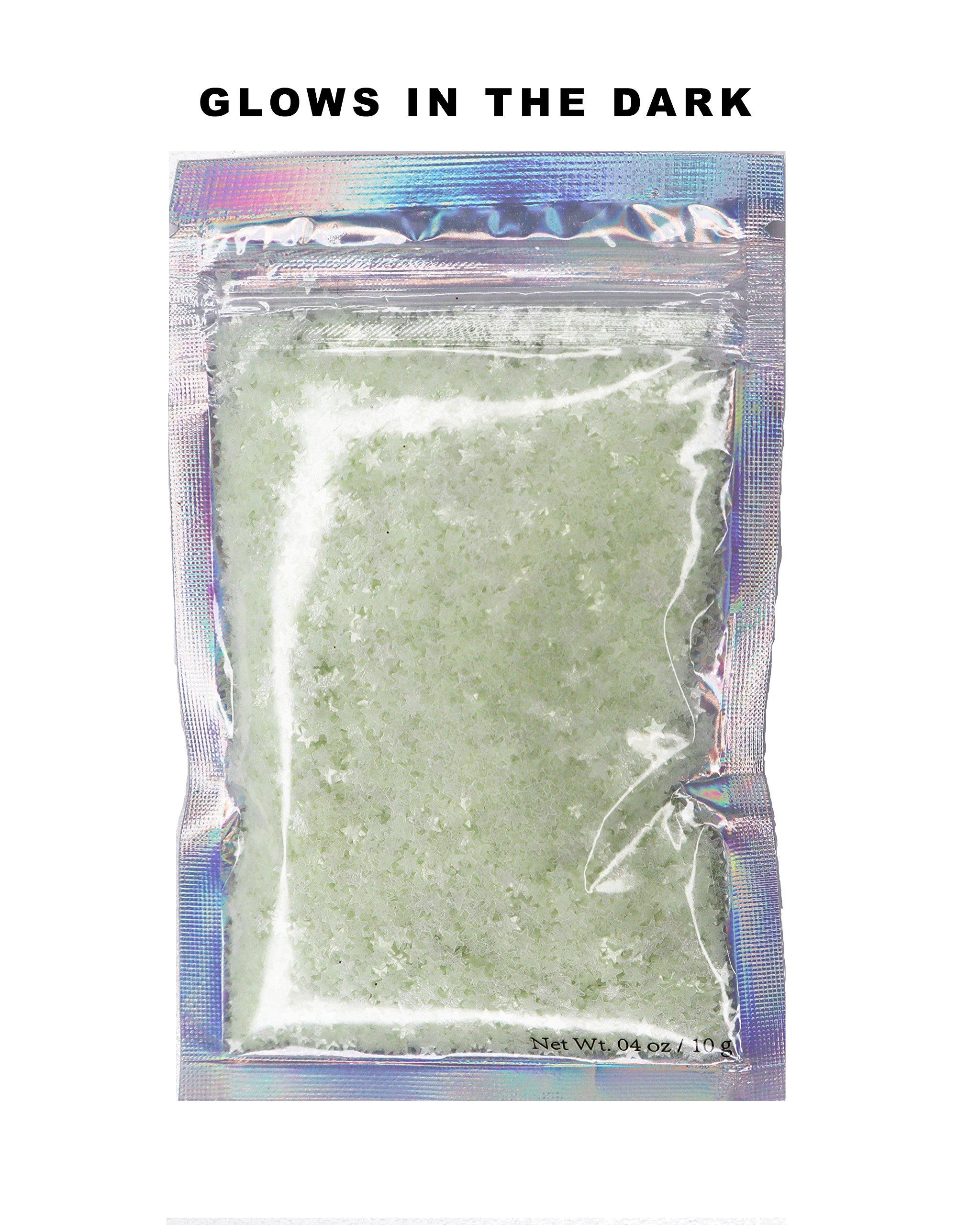 10 Grams ✮ Glow In The Dark UV Star Glitter ✮ COSMETIC GLITTER ✮ Festival Rave Beauty Makeup Face Body Nail ✮