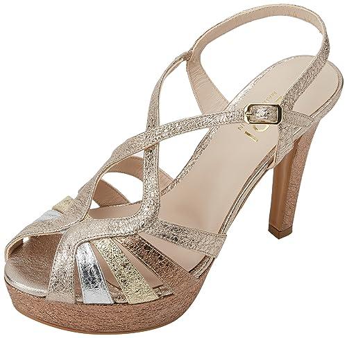 lodi Tim, Sandalias con Plataforma para Mujer, (Alice Plata-Platino Nude), 38 EU: Amazon.es: Zapatos y complementos