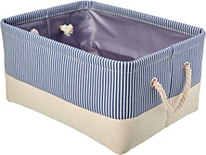 AmazonBasics Fabric Storage Basket Container with Rope Handles, Set of 2, Medium
