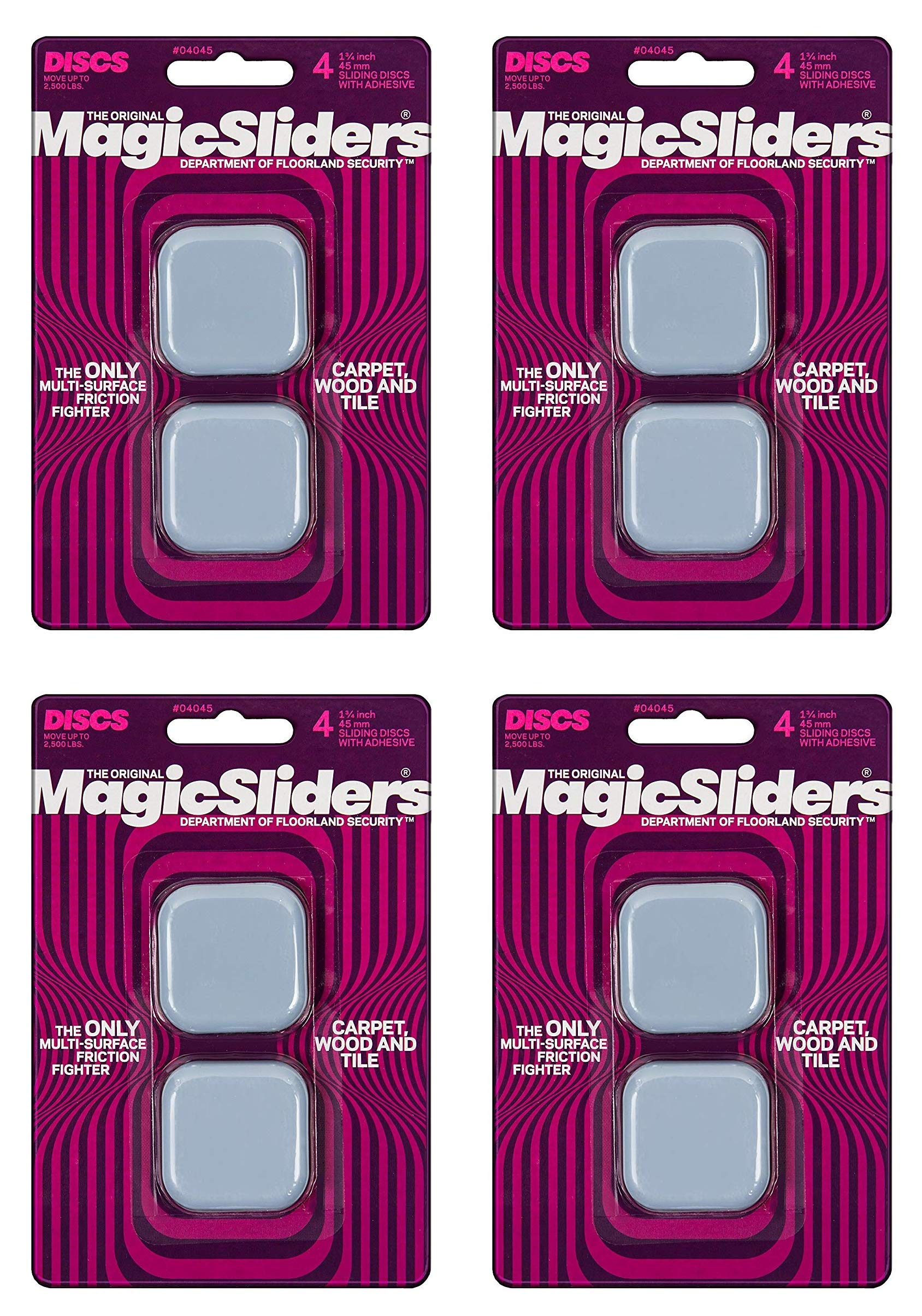 MAGIC SLIDERS L P 4045 4 Pack 1-3/4'' Magic Slider (Вundlе оf Fоur)