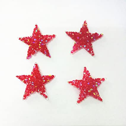 10pcs Lot Sparkling Rhinestone Five Pointed Star Pattern Clothes Patches Fashion Sequined Shoes
