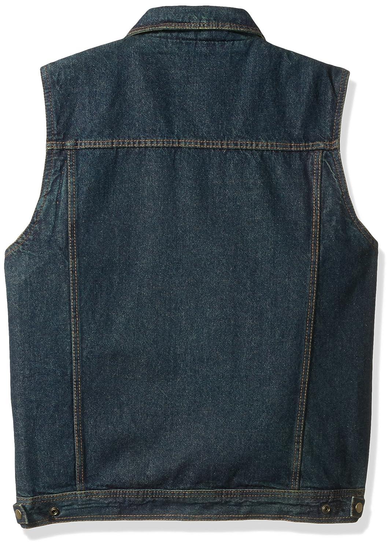 Black, Medium Milwaukee Performance Mens Shirt Collar Denim Vest