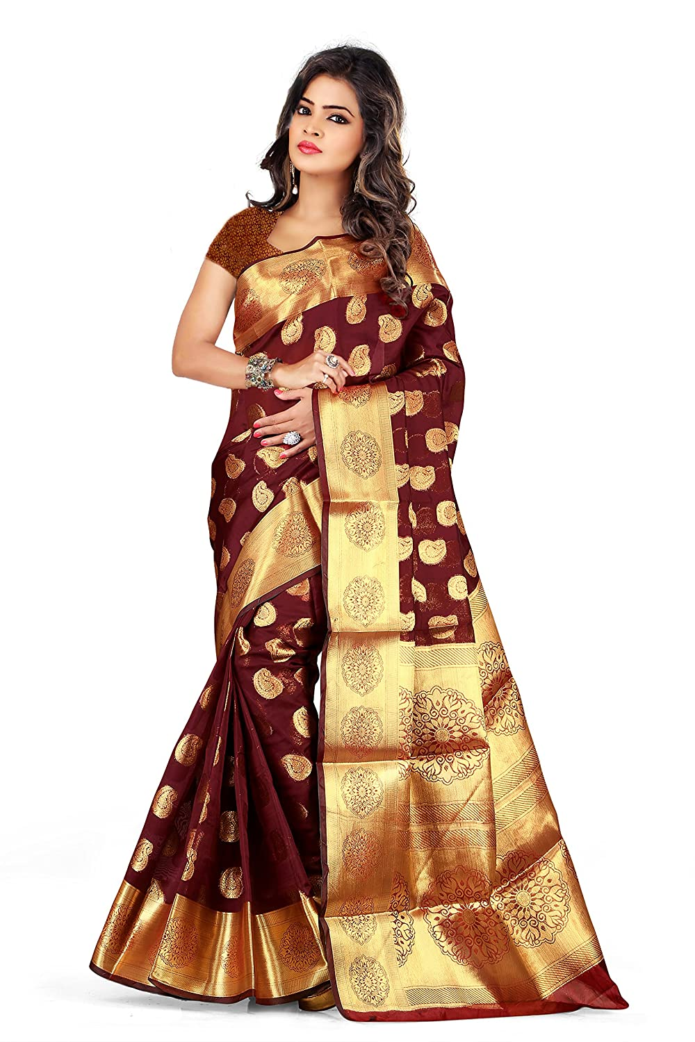 Women's Silk Saree With Blouse Piece Collection