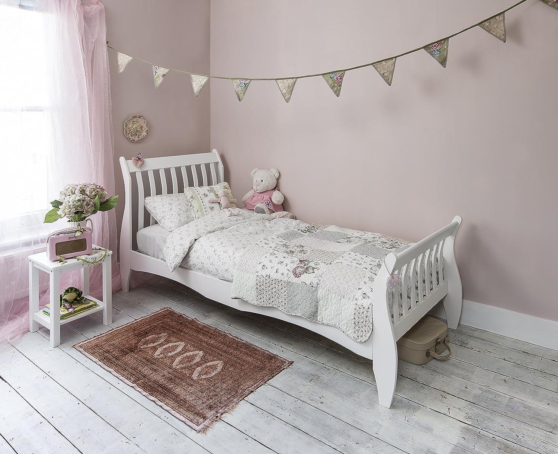 - Noa And Nani - Astrid 3ft Single Sleigh Bed - (White): Amazon.co