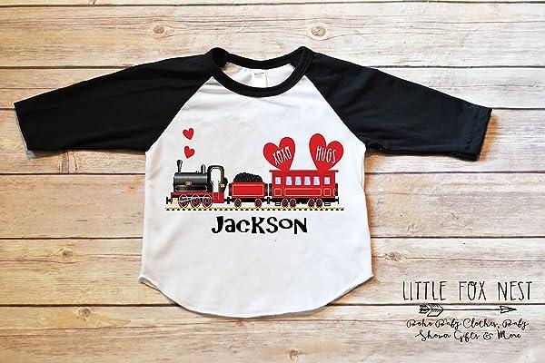 Valentines Shirt, Train Shirt, Valentines Outfit Boy, Toddler Boy Shirt, Baby Boy Shirt