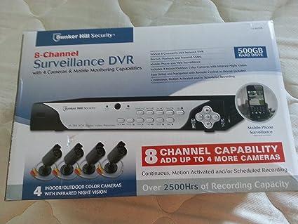 amazon com bunker hill security 8 channel surveillance dvr with 4 rh amazon com