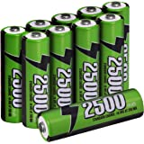 Rechargeable Batteries - High Capacity - Pack of 10 - Pre-Charged - By Utopia Home (AAA)