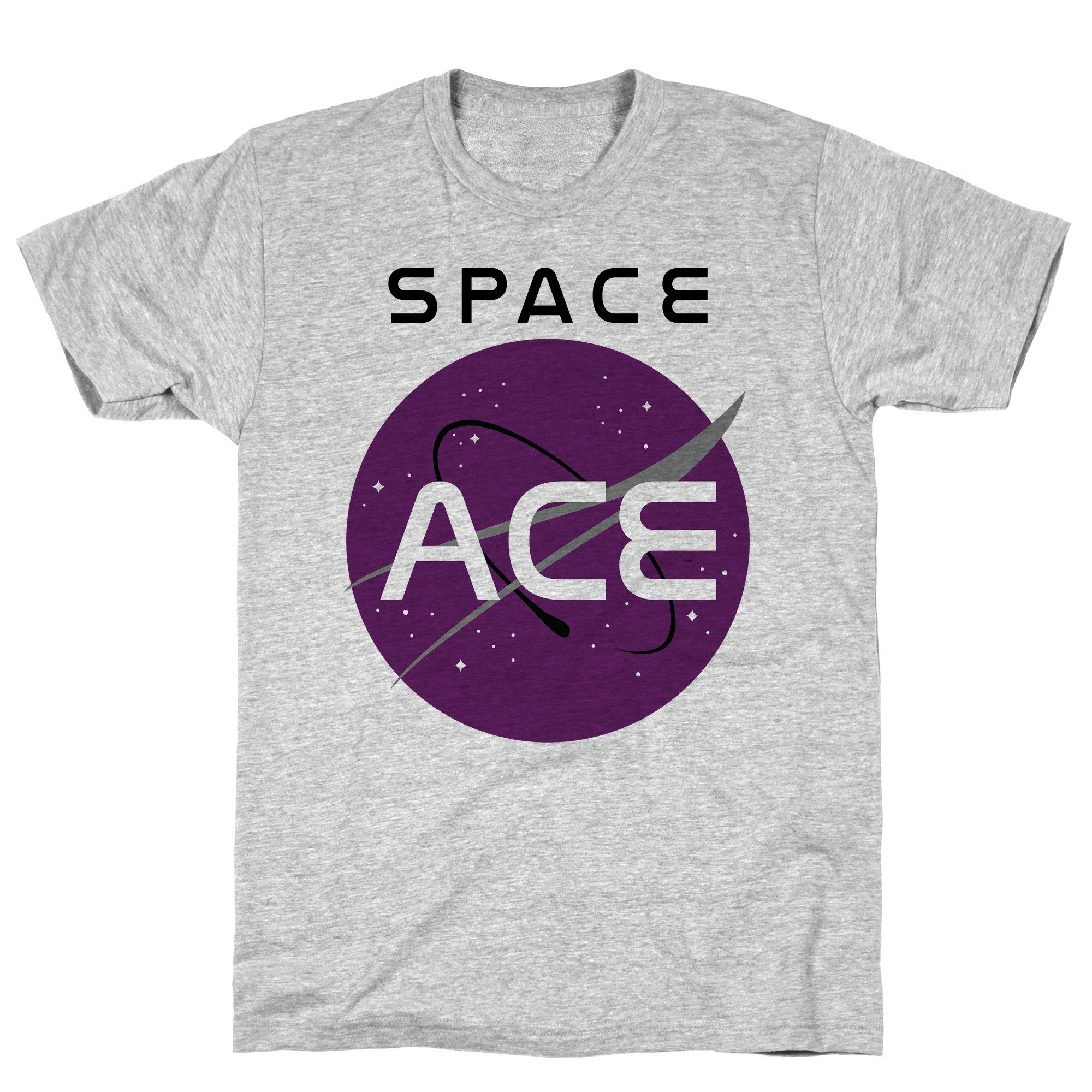 Space Ace Athletic Gray S Ts Shirts
