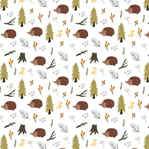 Hedgehog Wrapping Paper Woodland Gift Wrap - Folded Flat 30 x 20 Inch 3 Sheets