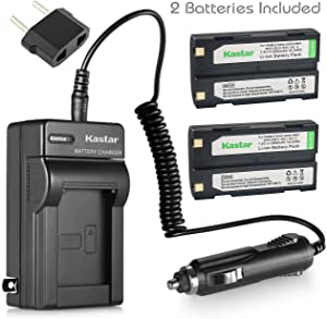 Kastar Battery X2 & Charger Replacement for Pentax Ei-D-Li1 EI-D-BC1 EI-2000, Trimble 29518 46607 52030 54344 38403 5700 5800 R6 R7 R8 GNSS TR-R8 GPS MT1000, HP PhotoSmart C8873A 912 C912 912XI C912XI