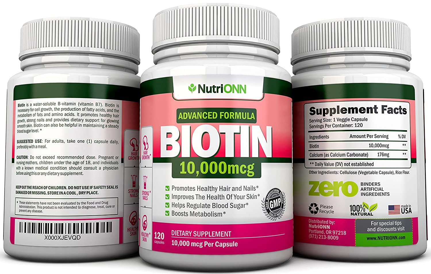 Amazoncom BIOTIN  MCG  Capsules Designed For Hair - How much biotin to take for hair growth