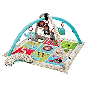 Skip Hop Baby Infant and Toddler Alphabet Zoo Activity Gym and Playmat, Multi Alphabet Zoo