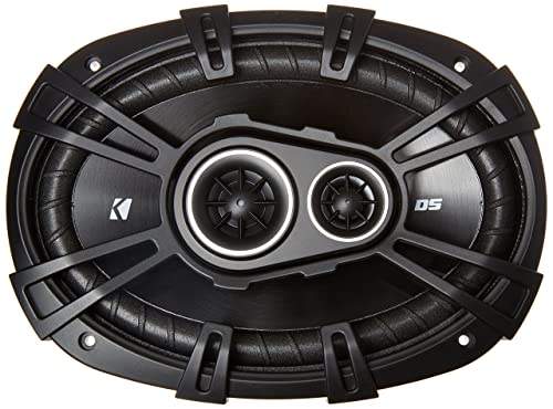 Kicker D-Series 360 Watt 3-Way Car Audio Coaxial Speakers