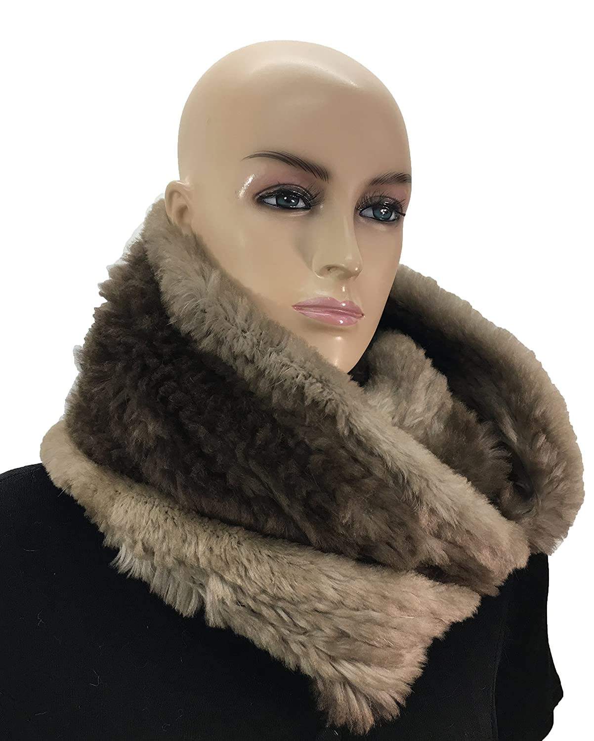 17ef3574d6d94 HIMA 100% Beaver Fur Infinity Scarf/Neck Warmer (Infinity Scarf) at Amazon  Men's Clothing store:
