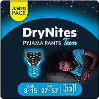 حفاضات مناسبة للبيجامات مقاومة للبلل للفتيان باعمار 8-15 سنة، وزن 27-57 كغم، مكونة من 13 قطعة من دراينايتس
