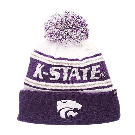 sale retailer 04a72 fdfa4 Amazon.com   ZHATS NCAA Kansas State Wildcats Adult Men Finish Line Arctic  Beanie, Adjustable, White Team Color   Sports   Outdoors