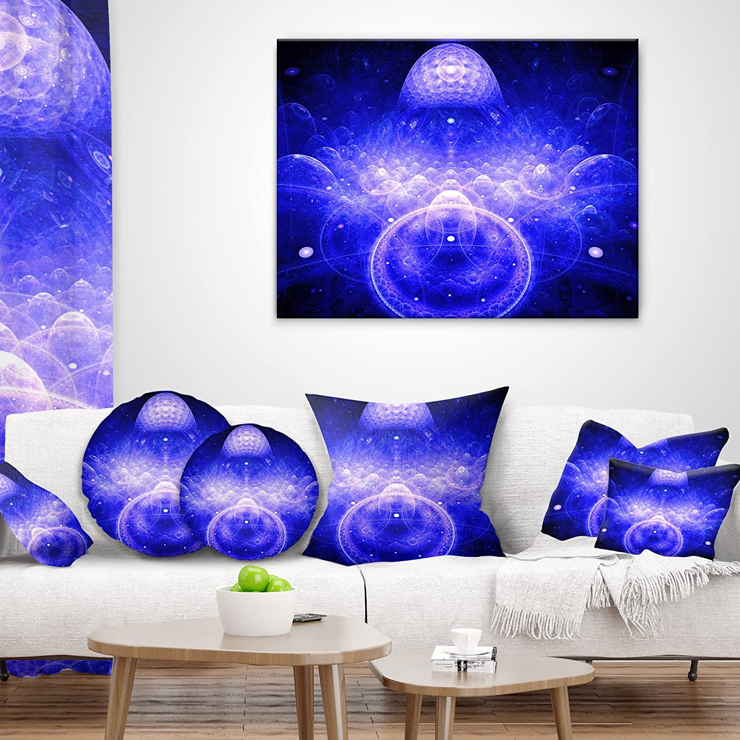 Designart CU16362-18-18 Mystic 3D Surreal Illustration Abstract Cushion Cover for Living Room in Sofa Throw Pillow 18 in x 18 in