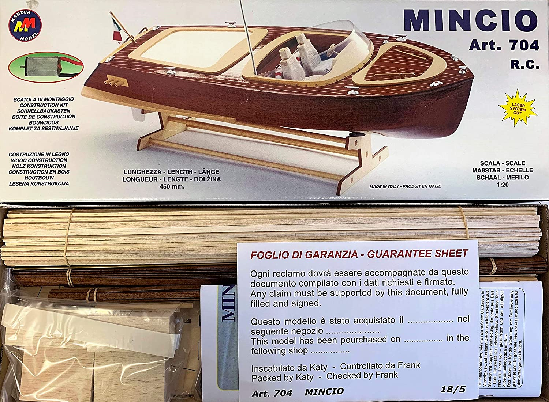 Scale 1:20 Mantua Model RC Boat Kit Mincio Plank on Frame starter RC boat