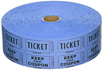amscan carnival fair two tiered tear off coupon raffle tickets party supply 1 piece