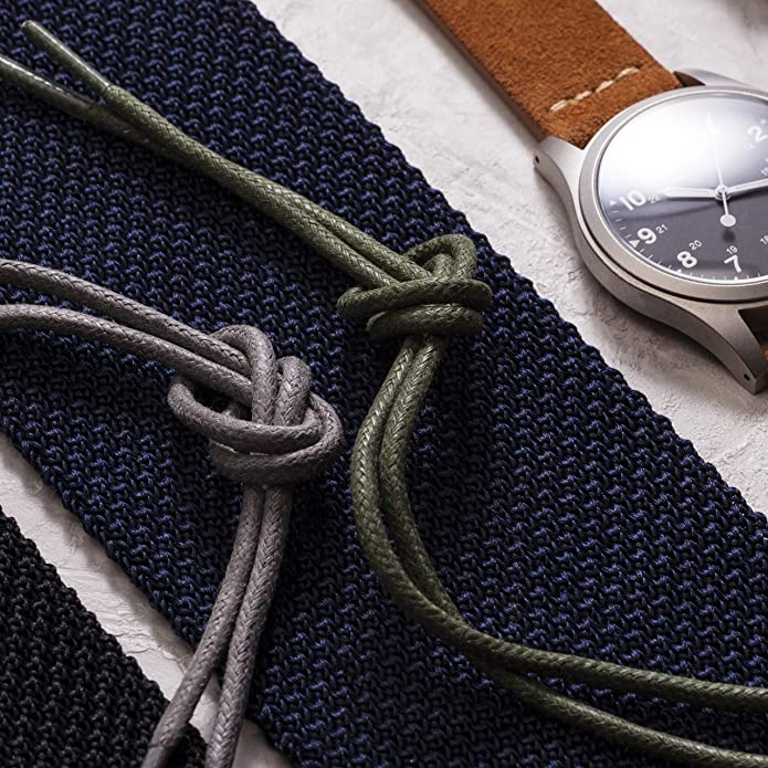 "ce4c68c4f1cf Amazon.com: Benchmark Basics Round Waxed Cotton Shoelaces | 27"", 30"", 33"" &  36"" 