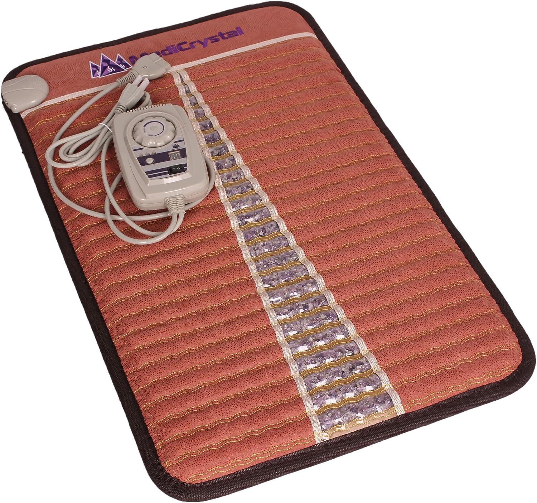 MediCrystal Infrarrojo lejano Amatista Mini Mat 50x80 cm - cristales machacados Naturales - terapia con piedras calientes Mini 32