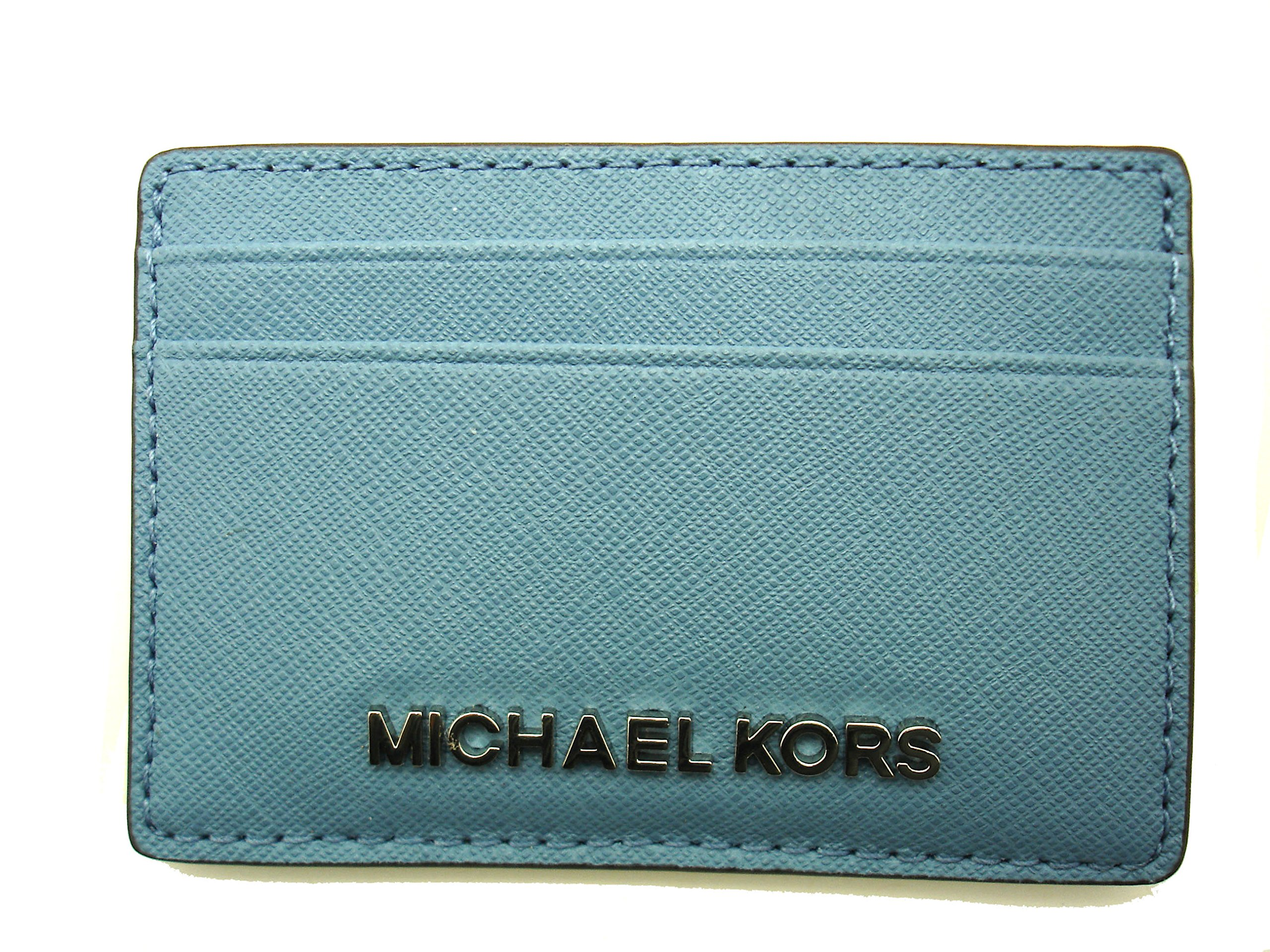 Michael Kors Jet Set ID Card Case Holder Saffiano Leather Sky