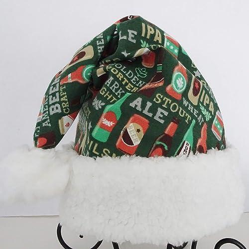 Amazon.com: Beer Drinkers Santa Hat, Novelty Craft Beer Santa Hat ...