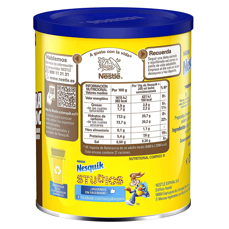 Nestlé Nesquik Extrachoc Cacao Soluble Instantáneo - 390 gr: Amazon.es: Amazon Pantry