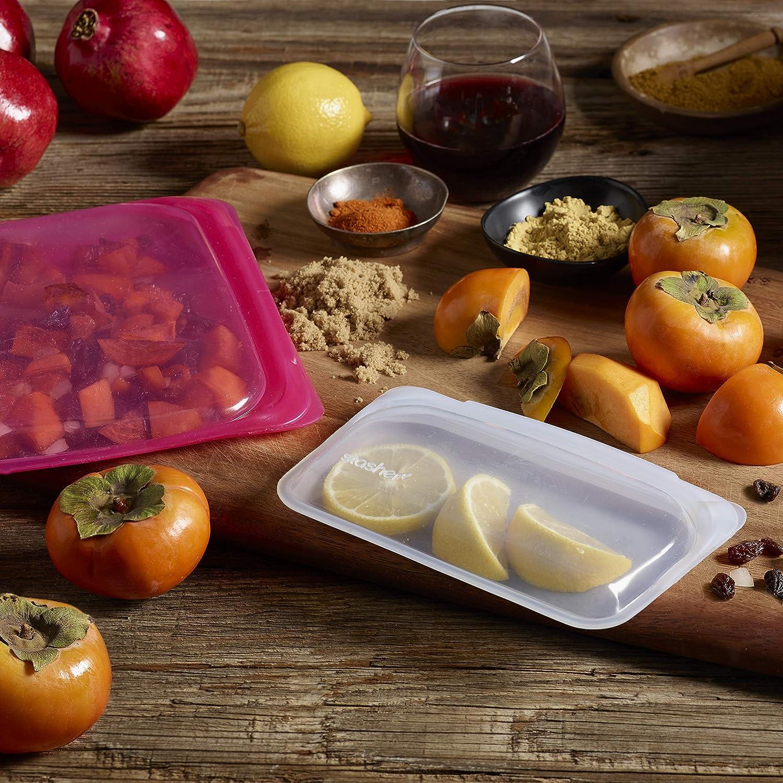 Bolsa de silicona reutilizable para cocinar Transparente 19.05 cm x 19.05 cm and 11.45 cm x 19.05 cm lime green Stasher