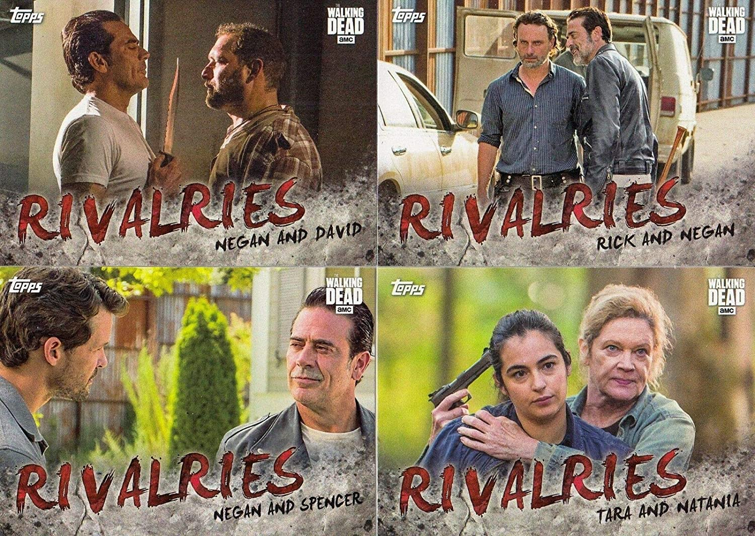 2017 Topps The Walking Dead Season 7 Rivalries Insert #R-1 Rick VS Negan