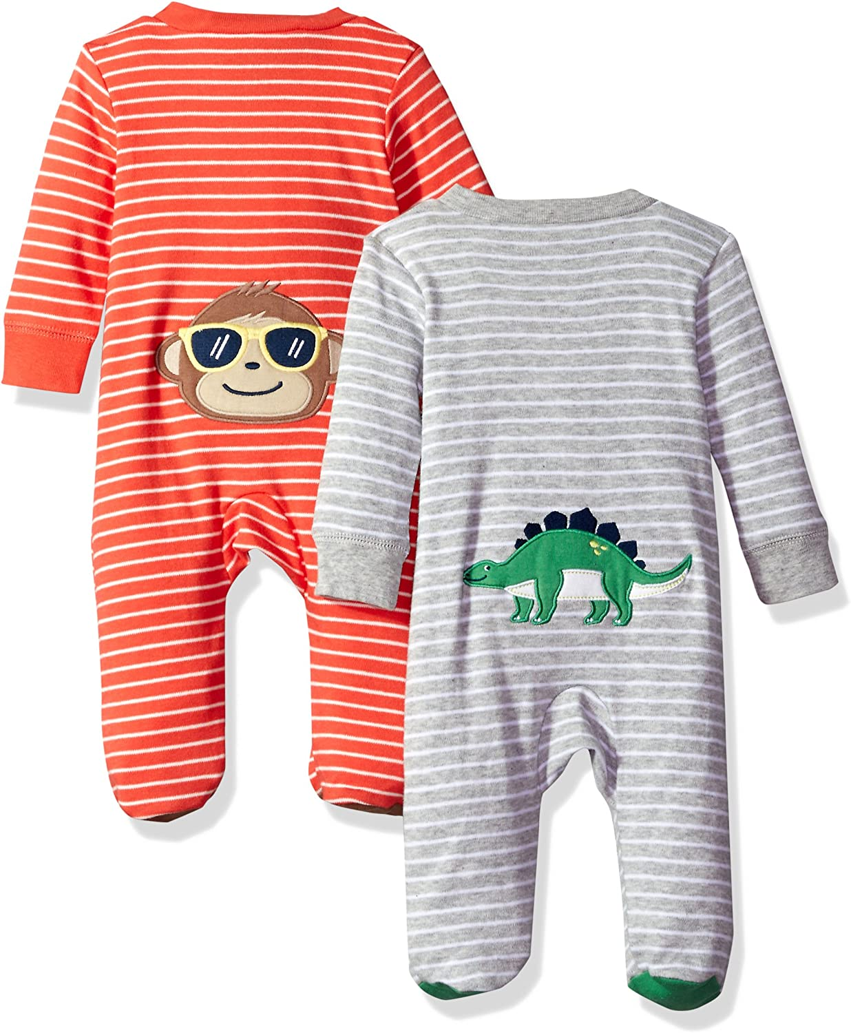 Carters Baby-Boys 2-Pack Cotton Sleep and Play Romper