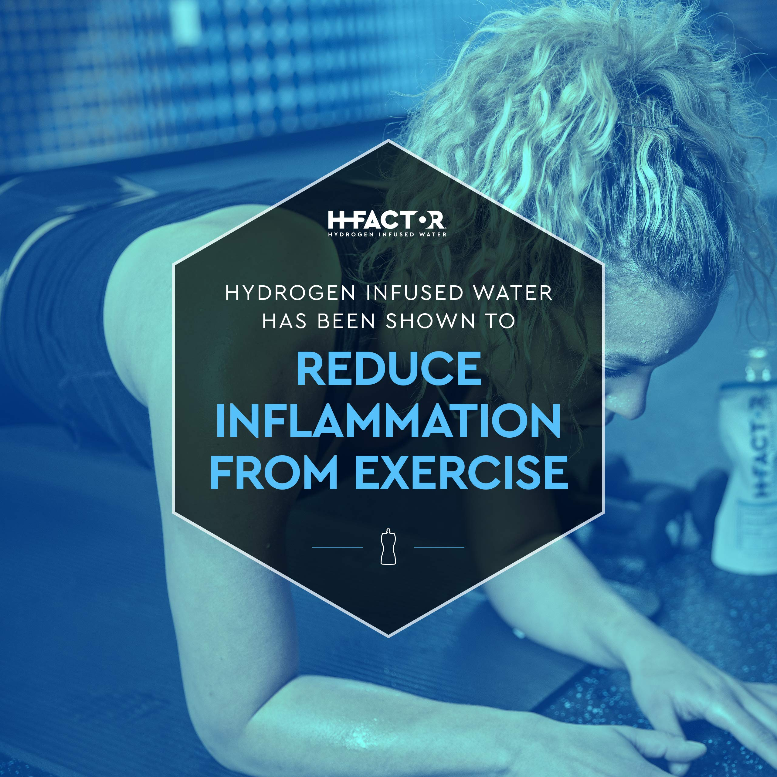 HFactor Hydrogen Infused Pure Drinking Water, Pre Or Post Workout Recovery Drink, 11 Fl Oz (24 Pack), Molecular Hydrogen Supports Athletic Performance Delivers Antioxidant, Packaging May Vary by H Factor (Image #4)