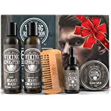 Ultimate Beard Care Conditioner Kit - Beard Grooming Kit for Men Softens, Smoothes and Soothes Beard Itch- Contains Beard Was