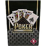 Premium Pokerkarten mit Spielanleitung, 54 Blatt, internationales Bild, hochwertige Spielkarten für Pokern in Casino-Qualität, Texas Hold'em, Black Jack, Casino Pokerkarten, Profi Pokerblatt