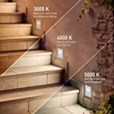 OSTWIN LED Step Light (4-Pack) Indoor/Outdoor Stair Light Fixture, Vertical Stairway Light, Dimmable, White Finish, 3 Watt, 5000 K (Day Light) 70 LM, ETL Listed