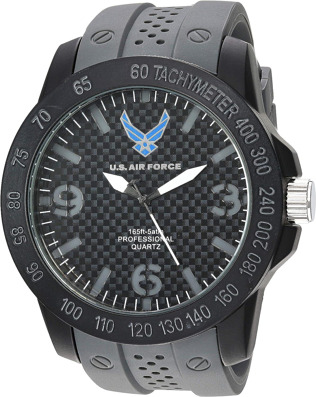 U.S. Airforce Men s Grey Silicone Strap Field Watch by Wrist Armor, F3 1005