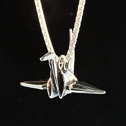 Amazon peace crane charm peace jewelry origami crane japanese peace crane charm peace jewelry origami crane japanese jewelry prayer jewelry silver charms and pendants silver aloadofball Images