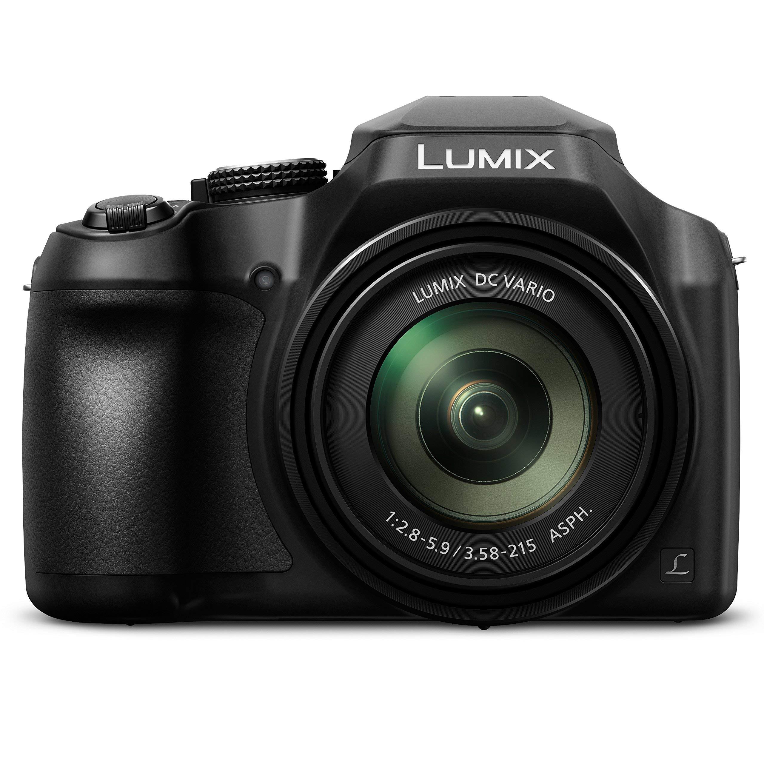 PANASONIC LUMIX FZ80 4K 60X Zoom Camera, 18.1 Megapixels, DC VARIO 20-1200mm Lens, F2.8-5.9, 4K 30p Video, Power O.I.S., WiFi ? DC-FZ80K (USA BLACK) (Renewed) by Panasonic