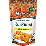 Naduria Bio Kurkuma Pulver in Premium Qualität | 400g (2 x 200g) | Fein vermahlen | Frei von Zusätzen | Für Goldene Milch & zur Verfeinerung von Speisen & Getränken | Vegan