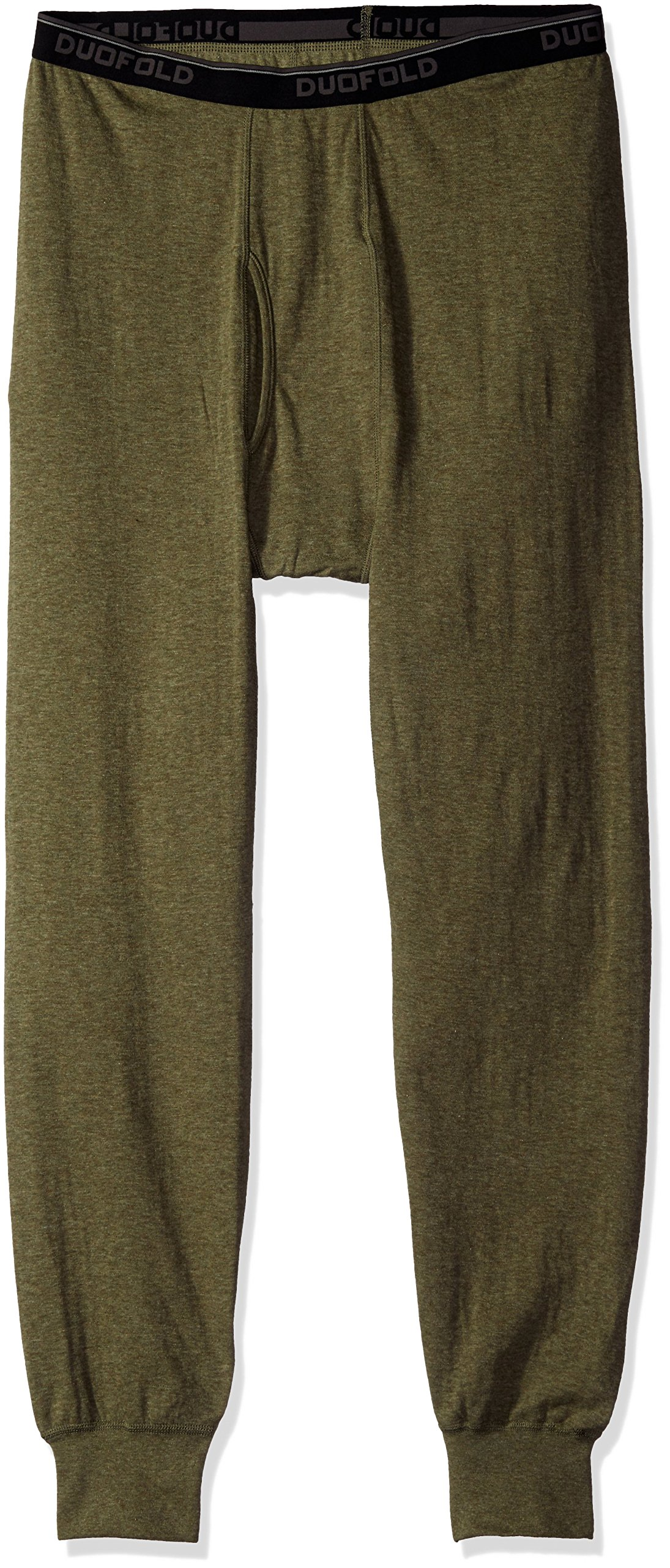 Duofold Men's Originals Ankle Length Bottom, Olive Heather, 2X Large