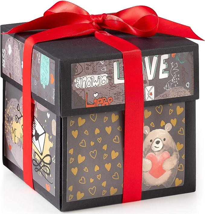 Amazon.com: XOXO - Caja de regalo con ilustraciones de ...