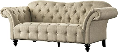 Acanva Luxury Chesterfield Vintage Living Room Family Sofa