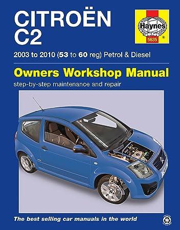 citroen c2 repair manual haynes manual service manual workshop rh amazon co uk Citroen C1 2006 Citroen C2