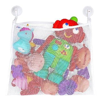 Amazon.com: Organizador de juguetes de baño – Ganchos de ...