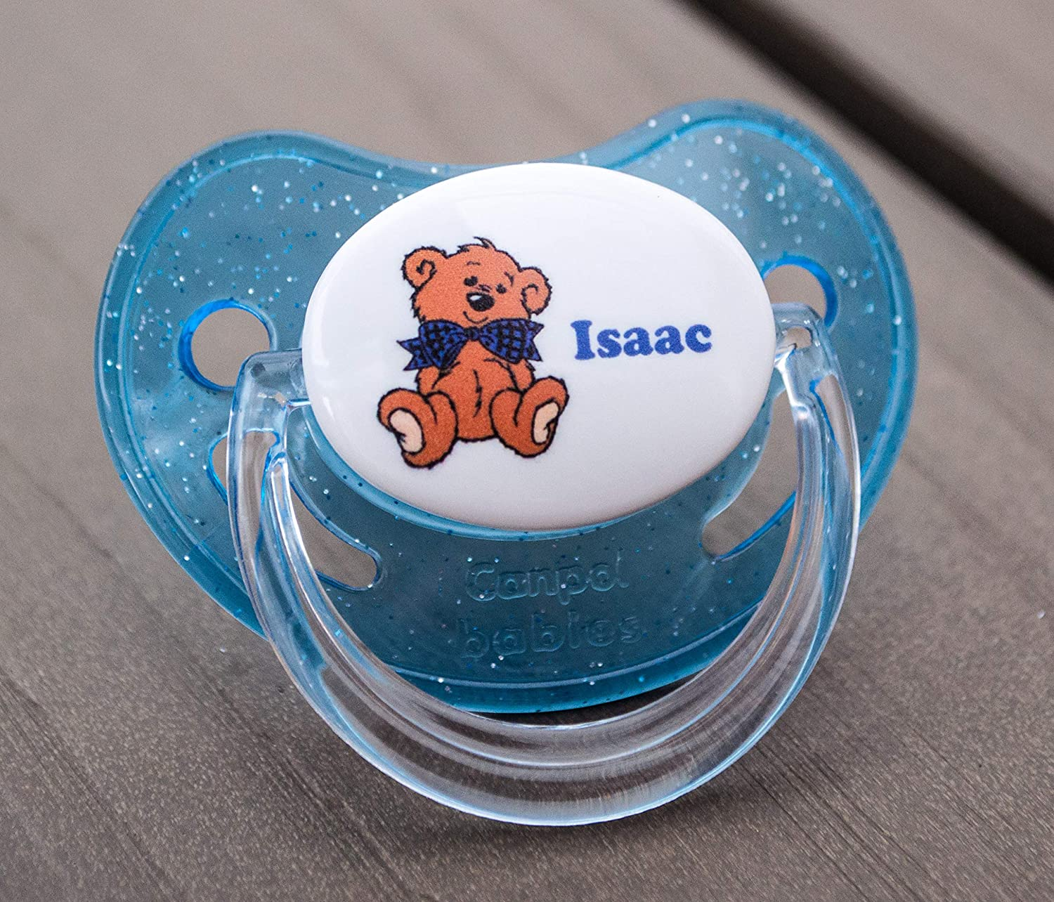PERSONALISED DUMMY PACIFIER SOOTHER,ALL TEATS,SIZES /& COLOURS MINNIE EARS